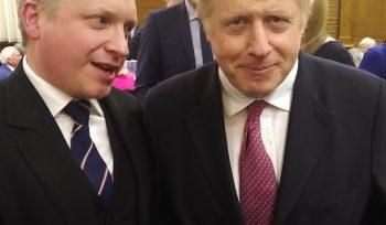Havard Hughes & Boris Johnson